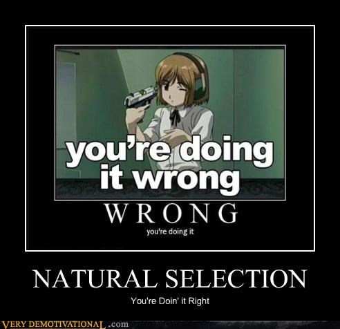 doing it right,anime,natural selection