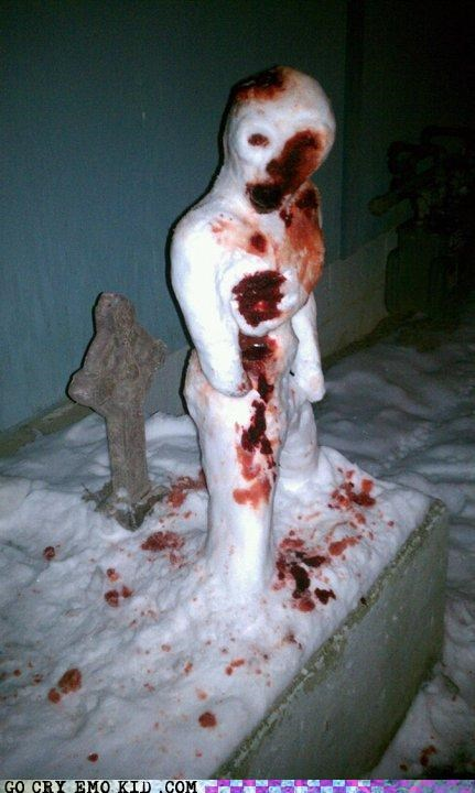 bloody body eww snowman wtf - 4353561088