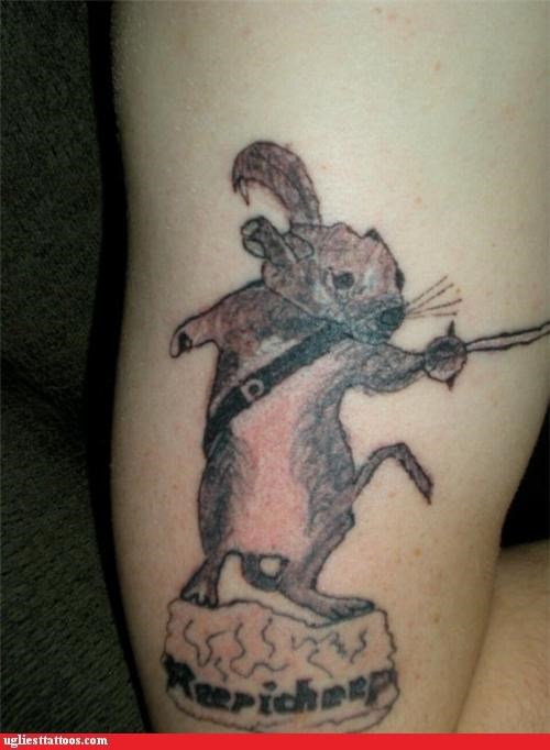 rats swords tattoos - 4353578496