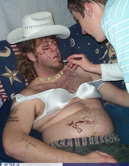 art cowboy hat passed out sharpie - 4353761536