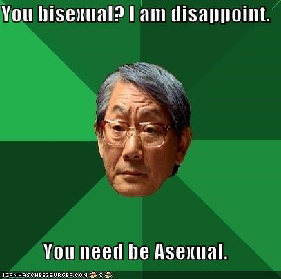 asexual,bisexual,high expectations asian dad