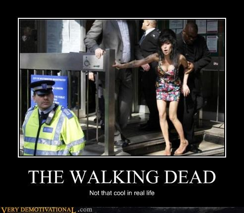 amy winehouse,drugs,real life,reality sucks,sad but true,The Walking Dead,wtf,zombie