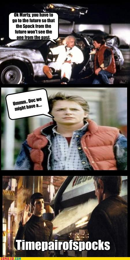 back to the future,Doc Brown,history,michael j fox,puns,spocks,Star Trek