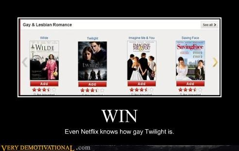 gay jokes,movies,netflix,reality,twilight,woah