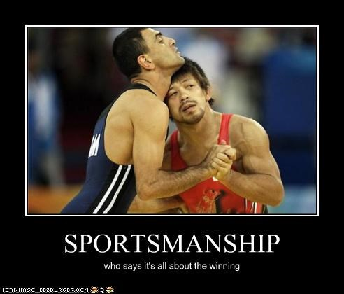 SPORTSMANSHIP who says it's all about the winning