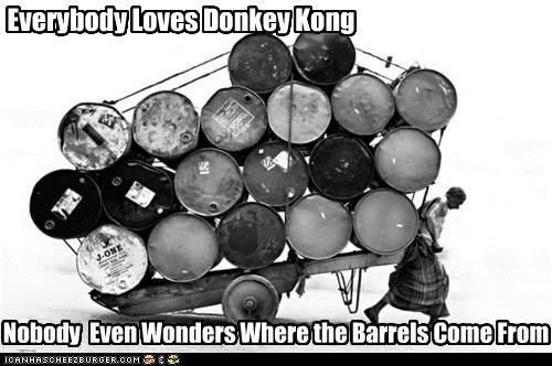barrels,donkey kong,midde east,oil,video games