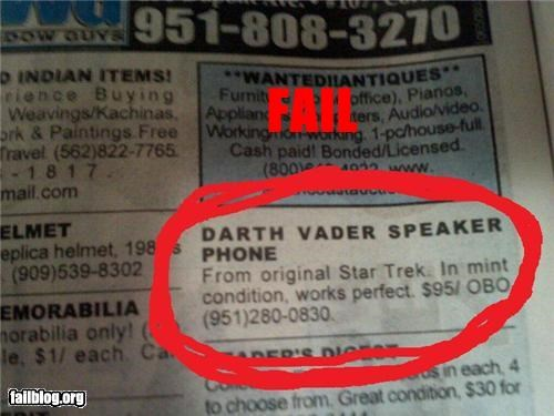 ads darth vader g rated mixed up nerdy Star Trek star wars - 4354576128