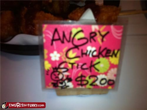 angry birds chicken engrish food - 4354593536