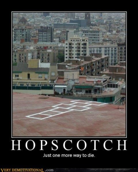 art,Death,hopscotch,Impending Doom,sad but true