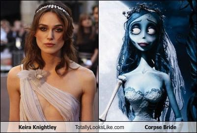 actress claymation corpse bride Keira Knightley skinny tim burton