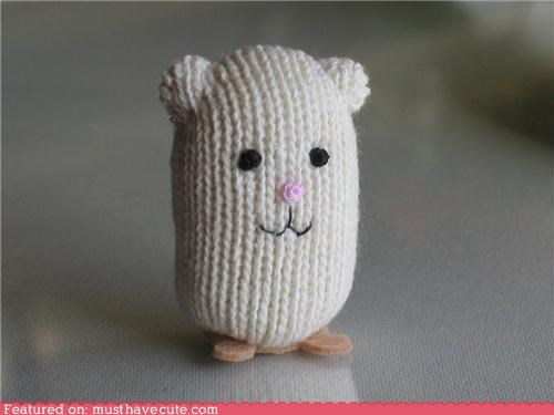 hamster knit Plush tiny toy - 4355104768