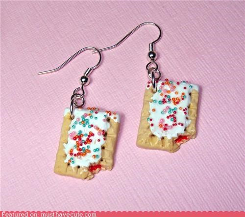 earrings,food,Jewelry,mini,pop tarts