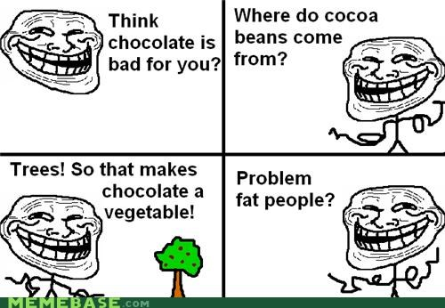 chocolate,health food,problem,troll science
