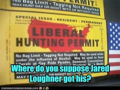 guns,jared lougher,Liberal Hunting Permit,liberals,tea party,violence