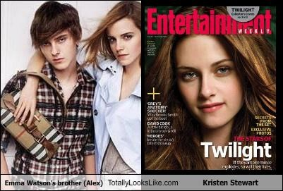 Alex Watson,brother,emma watson,Harry Potter,kristen stewart,twilight