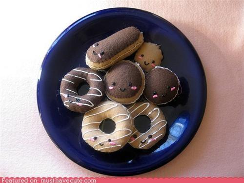 Charms donut felt Keychain Plush - 4355864576
