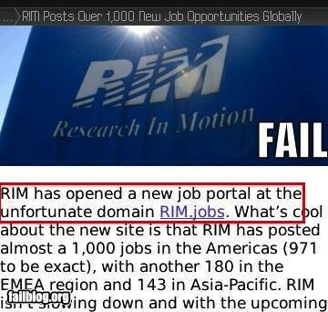 failboat innuendo jobs oh canada RIM URLs - 4355943936