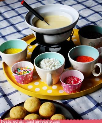 cupcakes epicute fondue frosting fun sprinkles - 4356049664
