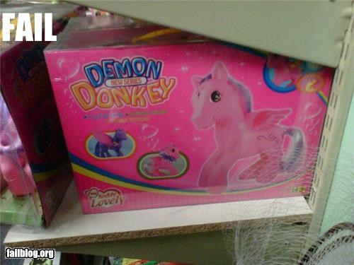 demon,donkey,failboat,g rated,name,ponies,toys,why