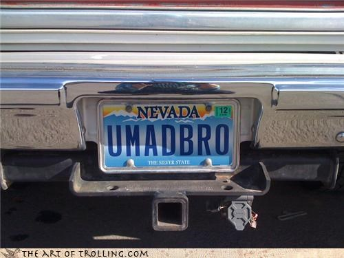 bro IRL jelly license plate Nevada u mad