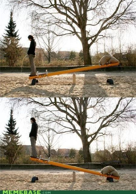 peesaw seesaw troll science