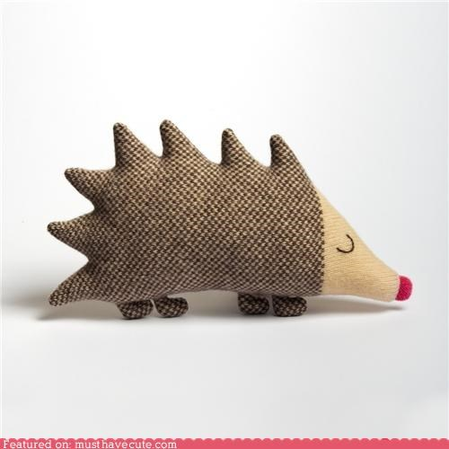 hedgehog Plush stuffed wool - 4356671744
