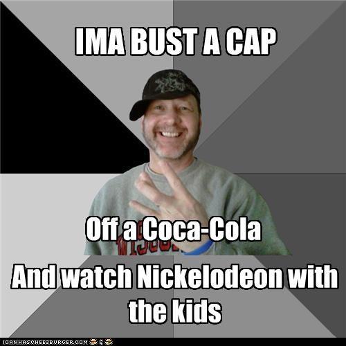 bust a cap cap coca cola hood dad nickelodeon - 4356921344