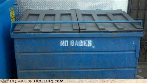Babies,dumpster,IRL,wtf