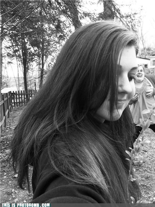 black and white lol photobomb - 4357030912