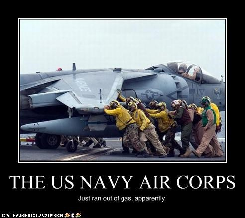 THE US NAVY AIR CORPS Just ran out of gas, apparently.