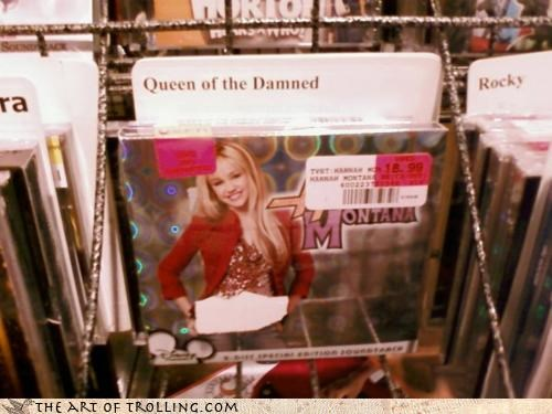 hannah montana IRL queen of the damned