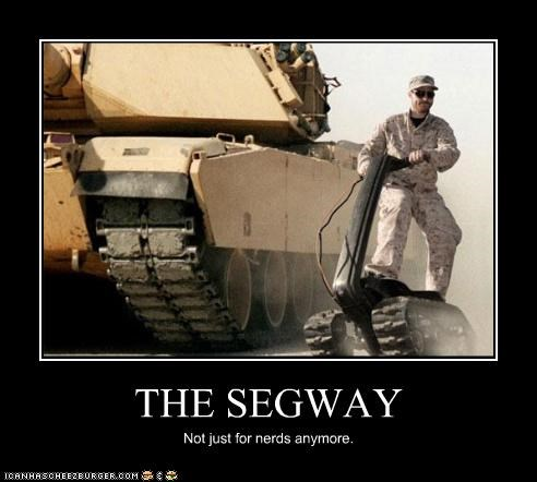 military,nerds,segway,soldier,tank,technology