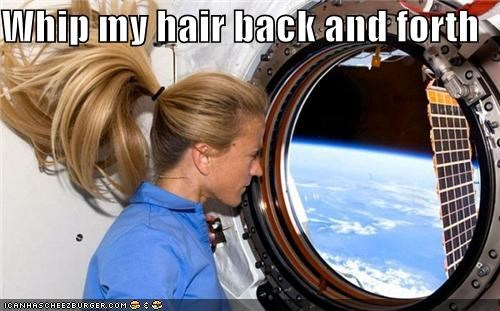 astronaut,astronauts,earth,hair,space,whip my hair