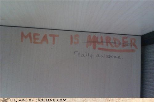 awesome IRL meat is murder peta - 4357872384