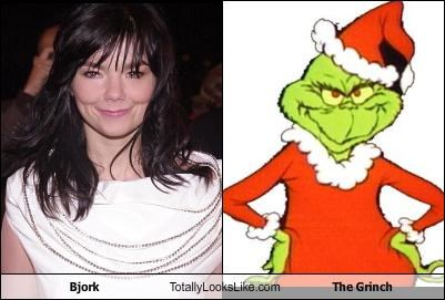 björk,cartoons,dr seuss,musician,the Grinch,the grinch who stole christmas