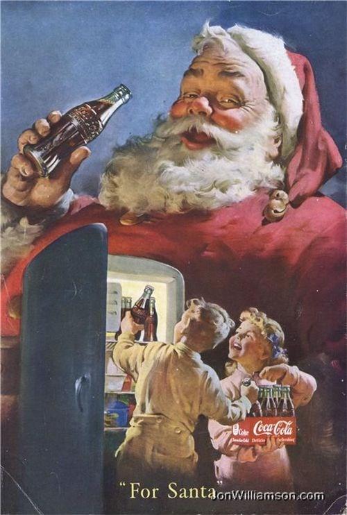 campaign santa claus cheezcake vintage coca cola - 4358149