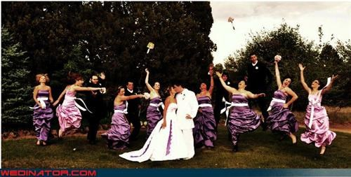 bride,cool wedding photo,crazy groom,fashion is my passion,funny jumping picture,funny wedding photos,groom,groom in white,jumping picture,technical difficulties,were-in-love,wedding jumping picture,wedding jumping trend,wedding party,white suit