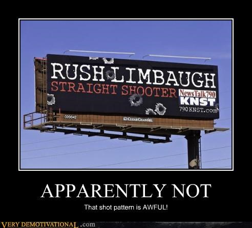 Rush Limbaugh,shooter,shot pattern