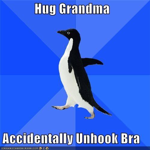 bewbs bra eww hug socially awkward penguin - 4360413184