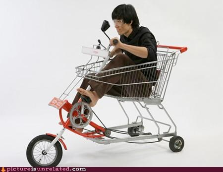 Japan party time pedals shopping cart transportation wtf
