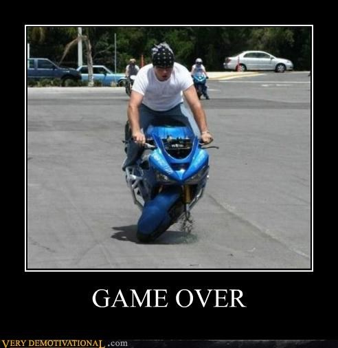 bandana,douchebag,game over,motorcycle