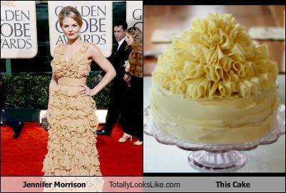 cake,food,golden globes,jennifer morrison