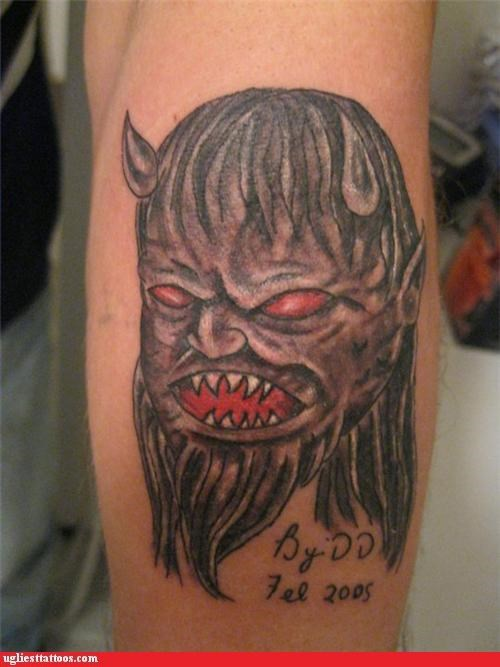 bad devils horns tattoos demons - 4363166720