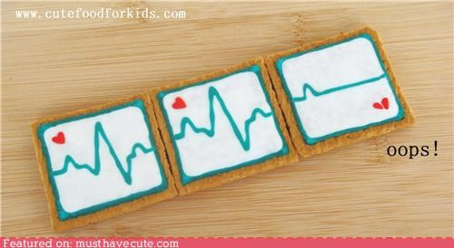 broken heart cookies epicute flatline heartbeat valentine - 4363314432