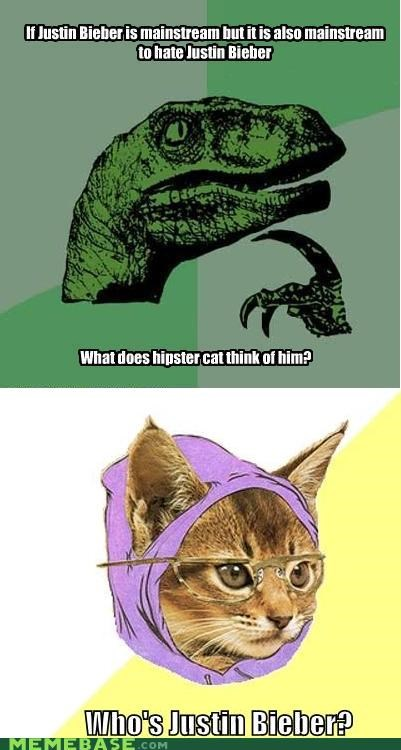 Hipster Kitty justin bieber Reframe truth - 4364378368