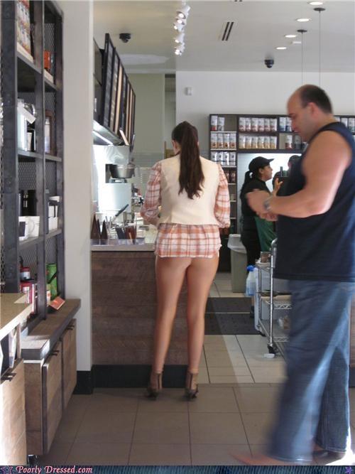 butt pants Starbucks wtf - 4364766720