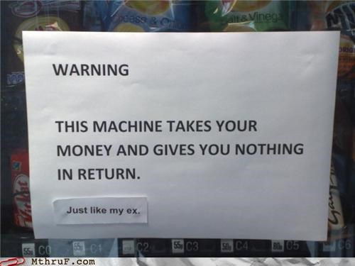 divorce money note signs vending machine - 4365442816