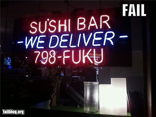 delivery failboat food phone number signs - 4365794816