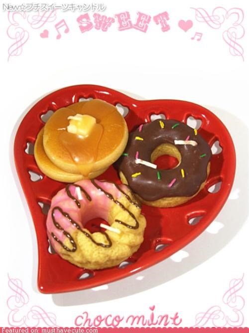 candles donuts pancakes wax - 4366167552