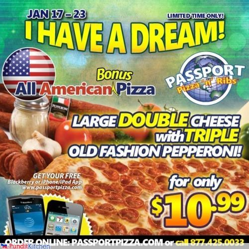 advertisement FAIL gross holiday martin luther king jr pizza wtf - 4366611456